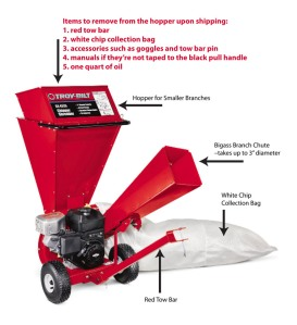 Diagram of Troy-Bilt CS4325 Chipper/Shredder